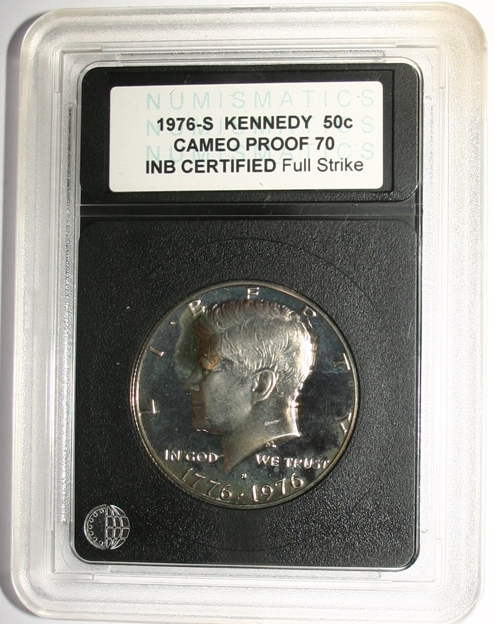 USA 1976-S Kennedy 50c Cameo Proof 70 INB Certified Coin