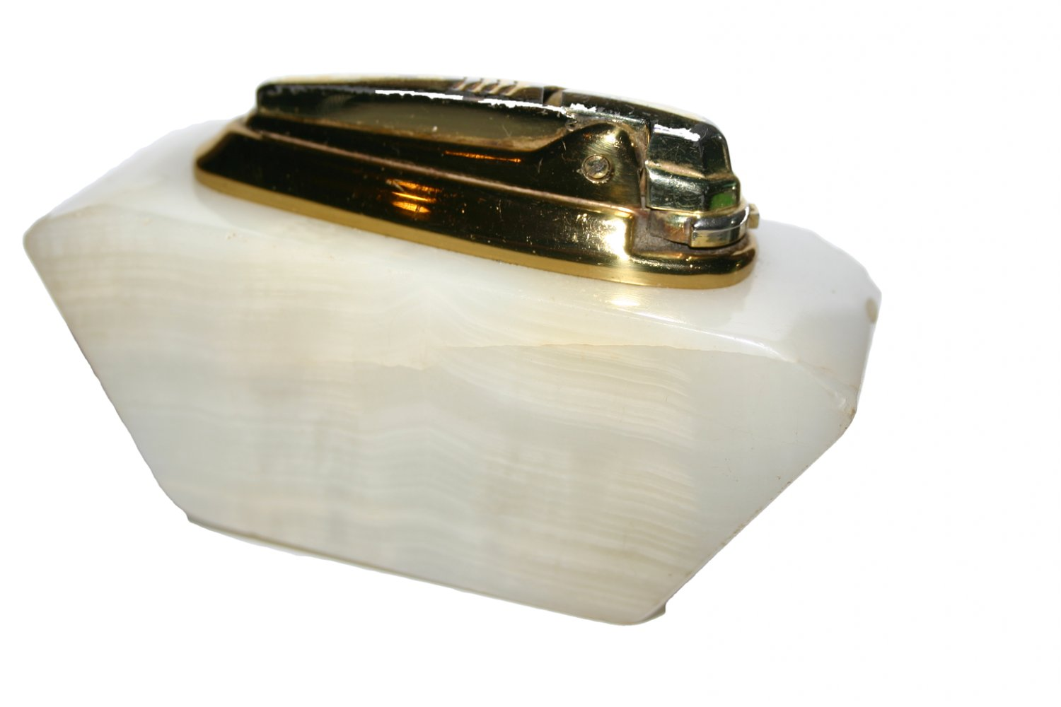 Ronson Varaflame Onyx Vintage 1964 Gas Table Lighter Collectors Item