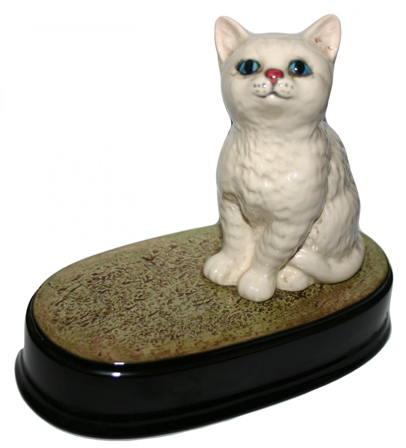 Beswick White Cat On Stand Vintage Collectors Item