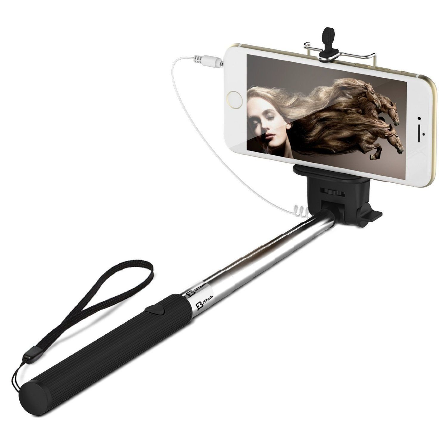 selfie stick monopod telescopic mobile phone smart phone android iphone ios camera holder. Black Bedroom Furniture Sets. Home Design Ideas