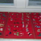 AMAZING HUGE VINTAGE EARRINGS LOT 84 PAIRS,MINT,RHINESTONES,SIGNED WORTH $$$