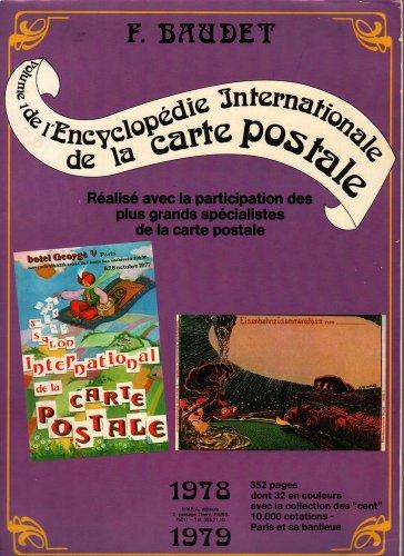 VINTAGE BOOK Volume 1 de L'Encyclopedie Internationale de la Carte Postale