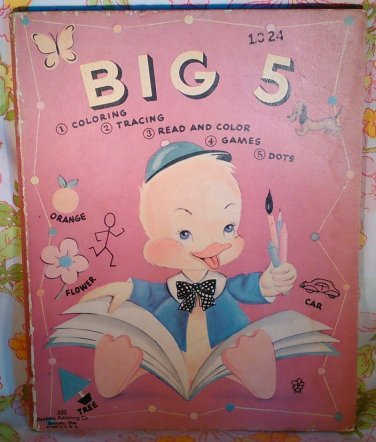 Big 5 Coloring Activity Uncle Wiggily - Vintage Book