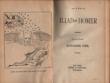 The Iliad of Homer - Alexander Pope, translator - Vintage Literature Book