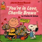 Charlie Brown Records You're in Love, Charlie Brown - Charles Schulz (1978) Vintage Kids Book