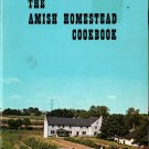 The Amish Homestead Cookbook - 1960s - Vintage Cook Book