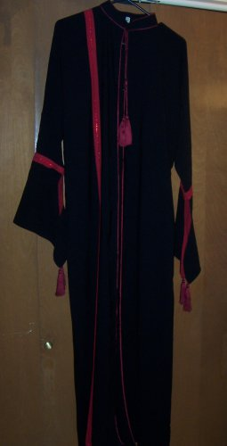 New Red and Black Over Garment -Abayah