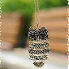 Fashion Necklace Bronze Cute Owl Necklace With Big Eye Pendant Vintage Necklace