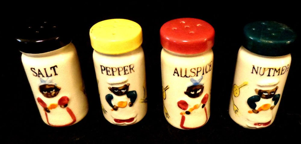 Vintage Set of Black Americana Salt & Pepper Shakers 1950s Made in Japan
