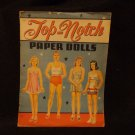 Vintage Uncut Top-Notch Paper Dolls  Saalfield Pub. Co.1948  UNCUT #1504