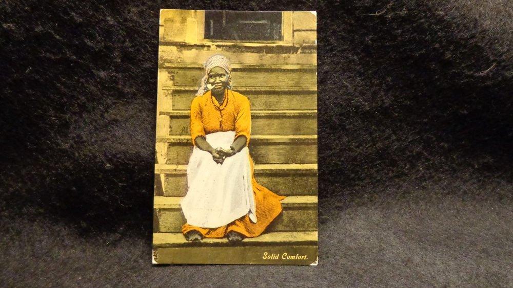 "Vintage Black Americana Postcard ""Solid Comfort"" RPPC   Used Divided Back 1910"