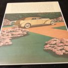 Lincoln Advertisement for Le Baron Convertible Sedan  Vintage and Original 1937