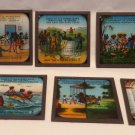 Vintage Ten Little Black Boys Set of 8 Black Americana Magic Lantern Slides RARE
