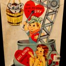 Vintage Large Valentine Has Moving Parts In Good Condition