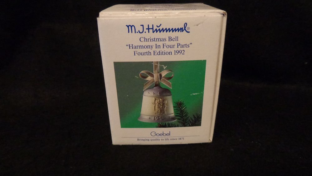 M.J.Hummel Christmas Bell Harmony in 4 Parts 4th Edition 1992 Goebel  W/ Box