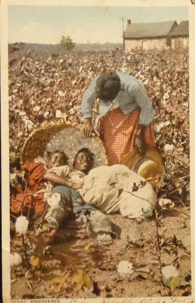 """Vintage Black Americana Postcard """"Discovered"""" #10546  1906Split Back"""