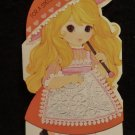 "Valentine Card for Granddaughter  ""A Walking Doll""  Almost Mint Uncut 1971"