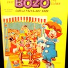 Vintage Bozo the Clown Circus Press-Out Book By Whitman 1966 Almost Mint