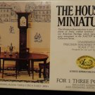 "House of Miniatures Hepplewhite 3 Piece Dining Room Table Original Box 1"" to 1"""