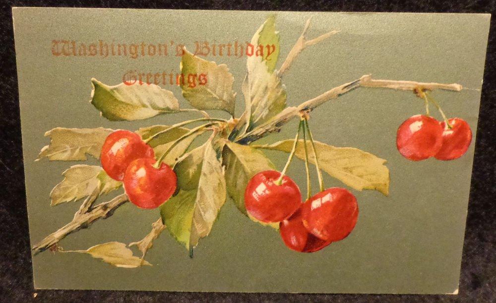 Vintage George Washington Birthday Postcard  Divided Back  Used 1908