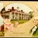 Vintage George Washington Birthday Postcard  Divided Back  Not Used Embossed