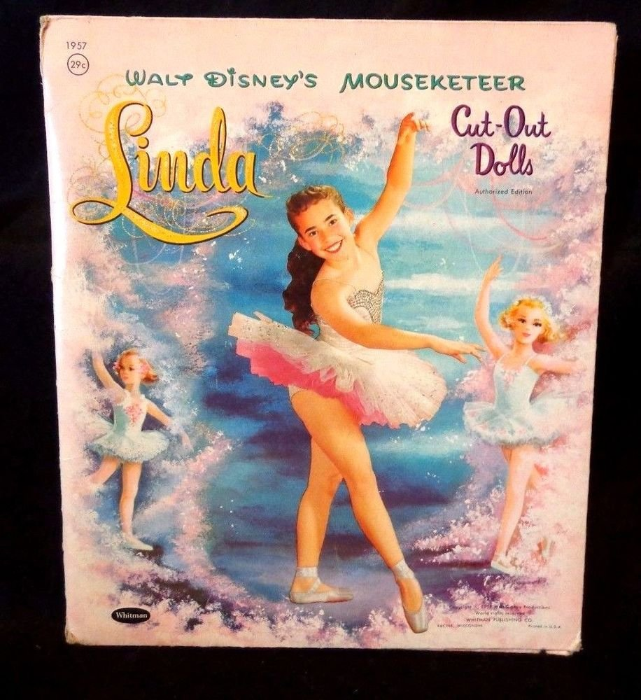 Disney's Mouseketeer Linda Cut-Out Paper Dolls Published by Whitman 1958 CUT OUT