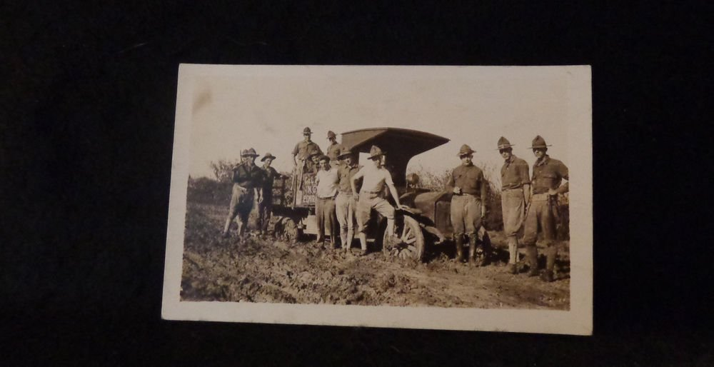 Vintage Real Photo Postcard Military Sepia US Unposted