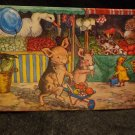 "Vintage Postcard ""WHEN PIGLETS GO TO MARKET"" by Molly Brett Split, Unused"