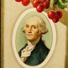 Vintage George Washington Birthday Postcard  Divided Back Unused Embossed