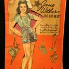 Jane Withers Paper Dolls Whitman 1940  Vintage Paper Dolls  Partially Cut