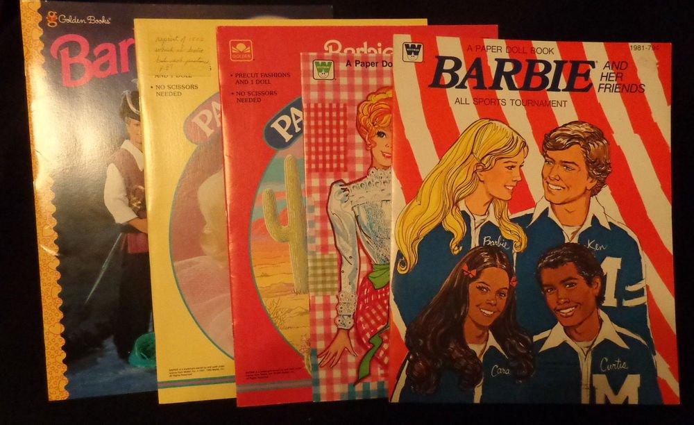 Uncut Barbie Paper Dolls 5 Paper  Doll Books in Lot  All Are Almost Mint Uncut