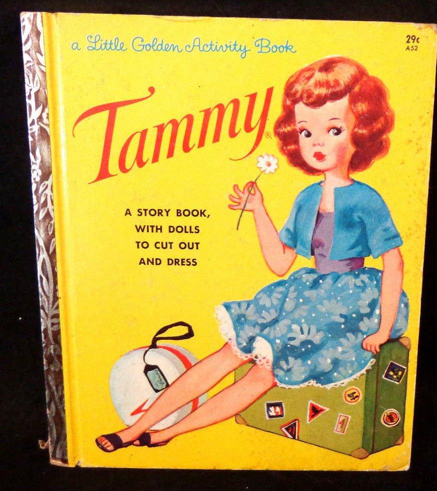 Tammy Little Golden Activity Book w/ Dolls to Cut Out  Uncut Paper Dolls 1963