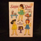 "Vintage Uncut Saalfield Paper Dolls  ""Sugar 'n Spice""  1969  6 Dolls Almost Mint"