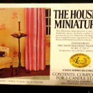 House of Miniatures Queen Anne Candle Stand /circa 1725-1760 Original Box 1""