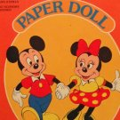 Vintage Mickey & Minnie Uncut Paper Dolls  1983  Almost Mint Condition