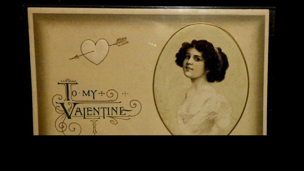 Vintage  Valentine Postcard   Divided Back  Used  Embossed  Beautiful