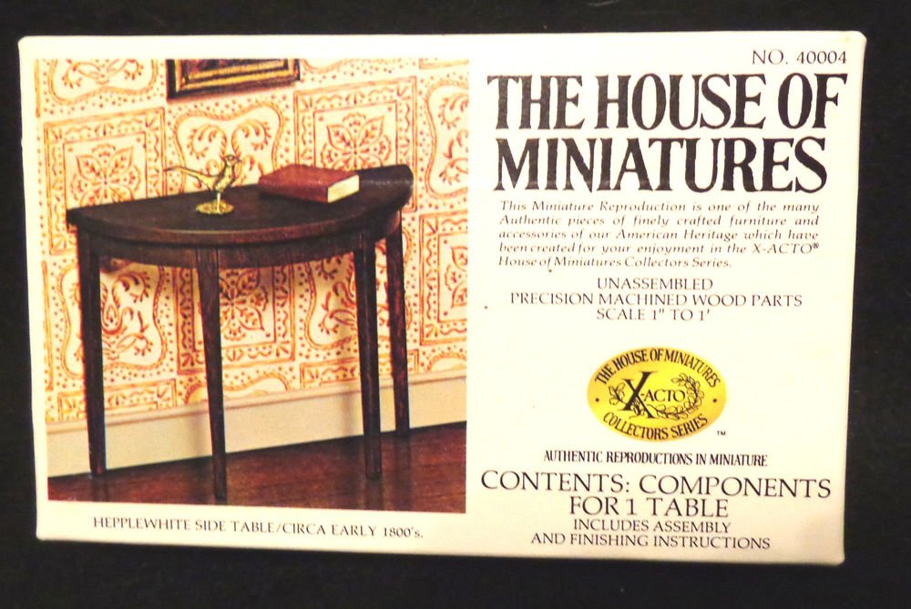 "House of Miniatures No. 40004 Hepplewhite Side Table   Unassembled    1"" to 1'"