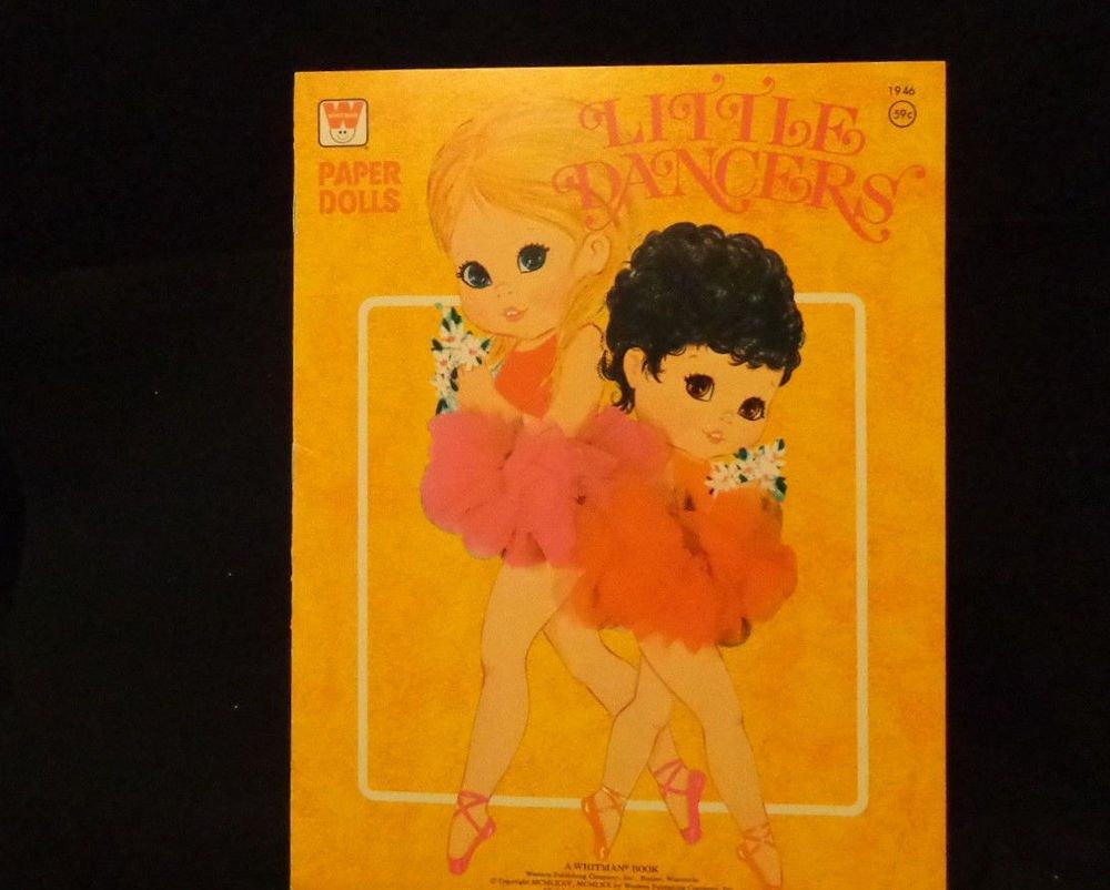"""Vintage Uncut Paper Dolls """"Little Dancers""""  Whitman #1946   Pub. 1975 All Uncut"""