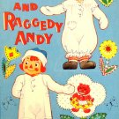 Raggedy Ann and Raggedy Andy Paper Dolls  Uncut  Saalfield Pub. Co.  1961