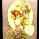 Vintage  Valentine Postcard  Used Divided Back Flowers  Embossed  1907-1915