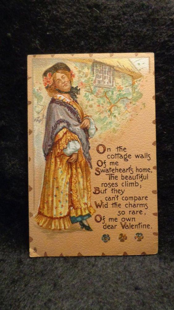 Vintage Raphael Tuck Valentine Postcard Series #116 Printed Lithograph 1907-1915