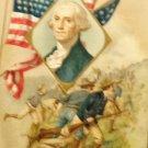 Vintage George Washington Birthday Postcard Embossed  Divided Back  Used 1911