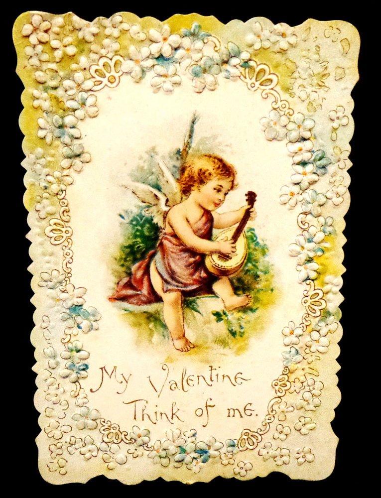 Vintage Valentine Circa 1907 Embossed Design Scalloped Edges Excellent  Shape