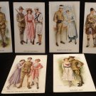 Vintage Postcards Artist Signed Archie Gunn Printed (Lithograph) WWI Unposted