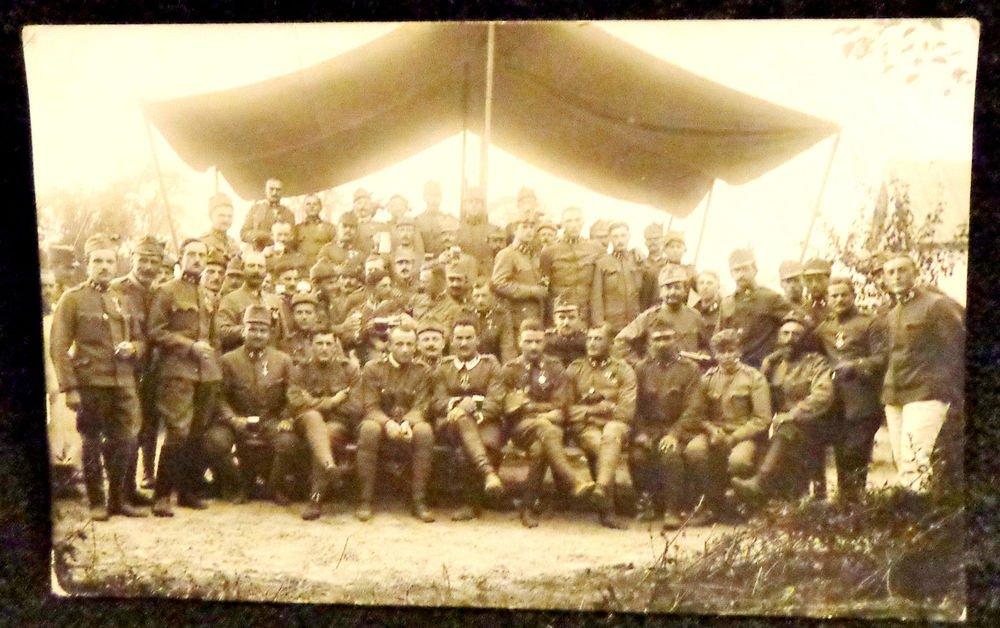World War I Real People Postcard German Soldiers in Uniform Used Postmarked 1916