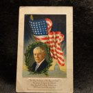 Vintage Patriotic Postcard W/ Picture of Woodrow Wilson, Flag, & Capitol  1918