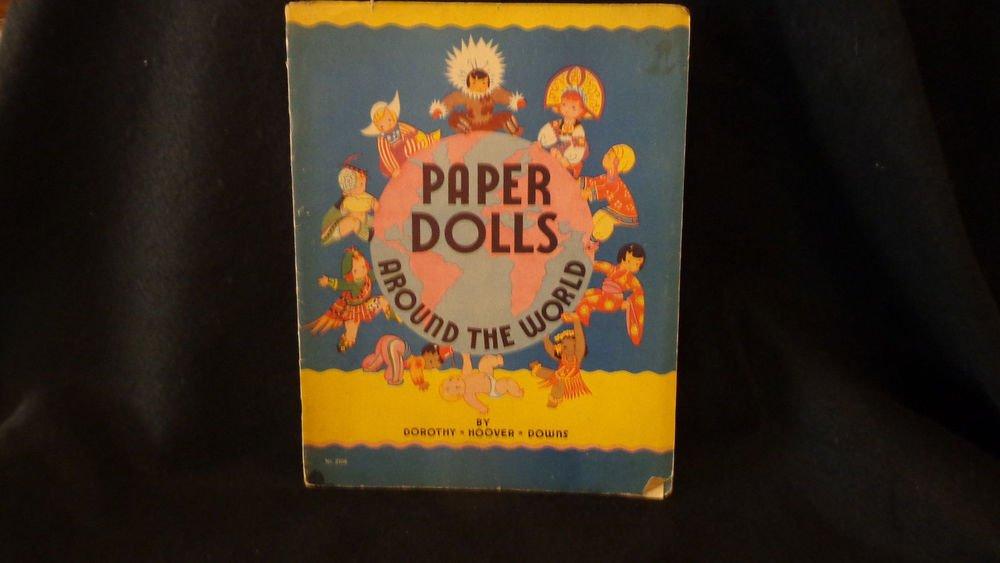 Vintage Uncut Paper Dolls Saalfield 1935 Paper Dolls Around the World 21 Nations