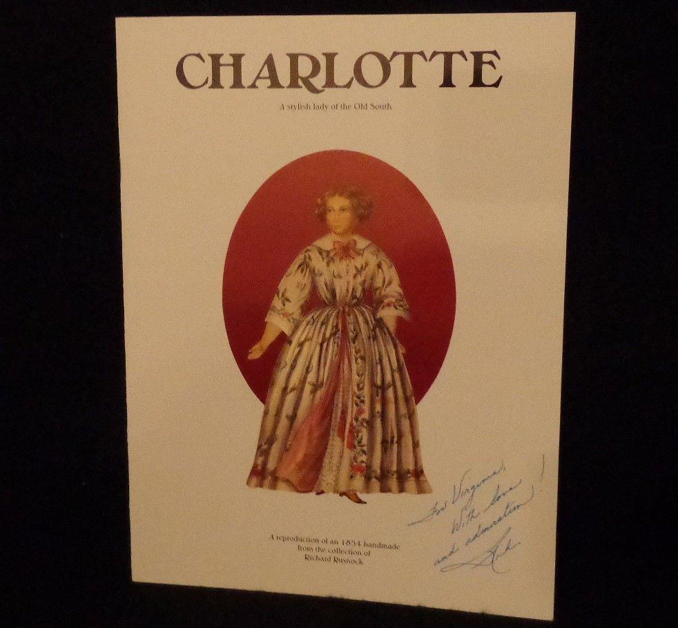 """Uncut Paper Dolls """"Charlotte"""" Autographed by artist Richard Rusnock 1994   Mint"""