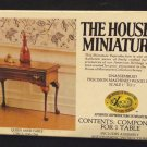 House of Miniatures No. 40038 Queen Anne Table Original Box  Unassembled
