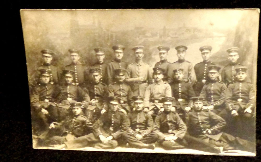 World War I Real People Postcard German Soldiers Carl Sachse Unused Divided Back